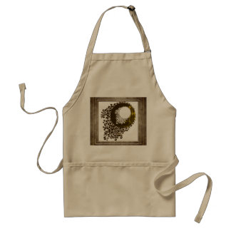 Ornate Pattern In Golds Standard Apron