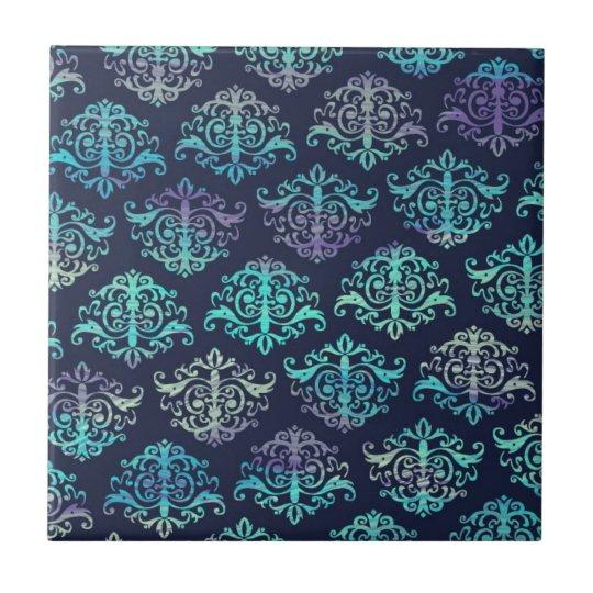 Ornate Pattern - Purple & Green Peacock Colours