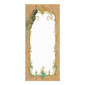 Ornate Peacock n Paisley Art Design Rack Card