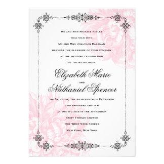 Ornate Peony Wedding Invitation