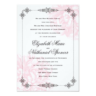Ornate Peony Wedding Invitation