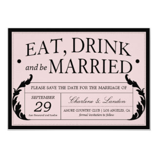 ORNATE PINK VINTAGE WEDDING | SAVE THE DATE CARD