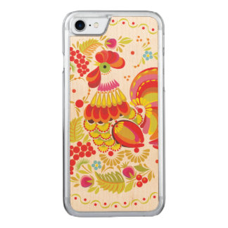 Ornate Rooster Carved iPhone 8/7 Case