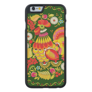 Ornate Rooster Carved® Maple iPhone 6 Slim Case