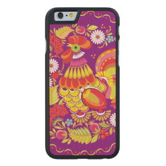 Ornate Rooster Carved® Maple iPhone 6 Case