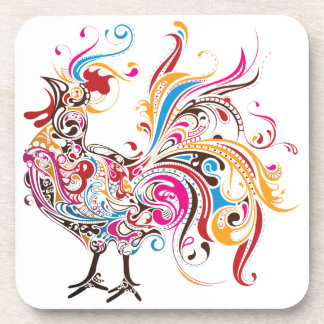 Ornate Rooster Coaster