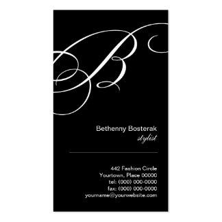 Ornate Script Monogram B Business Card