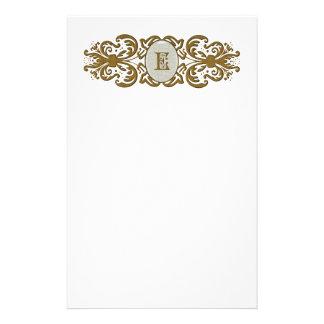 Ornate Scrolled Monogram Letter Stationery