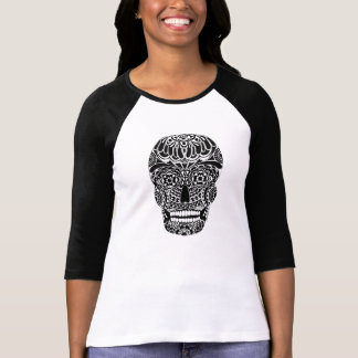 Ornate Skull Black and White Shirt