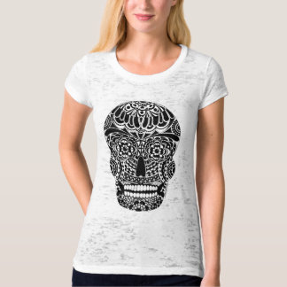 Ornate Skull Ladies T-Shirt