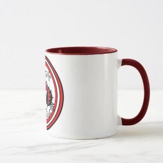Ornate Spade Design White/Red/Black Mug