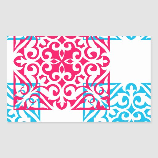 Ornate Squares Rectangle Sticker