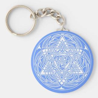 Ornate Star of David Basic Round Button Key Ring