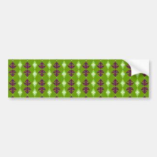 Ornate Stripe Bumper Sticker