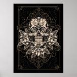 Ornate Sugar Skull Poster