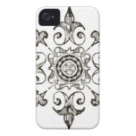 Ornate Symbol Black and White iPhone 4 Covers