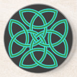 Ornate Triquetra Cross in Sage Bright Green