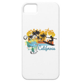 Ornate Tropical Paradise with Surfer CALIFORNIA iPhone 5 Case