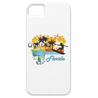 Ornate Tropical Paradise with Surfer FLORIDA png iPhone 5/5S Cover