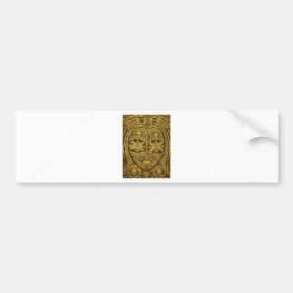 Ornate, unique, detailed, artsy, tribal mask bumper sticker