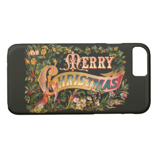 Ornate Vintage Christmas Greeting iPhone 7 Case