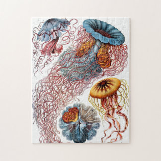 Ornate Vintage Jellyfish Jigsaw Puzzle