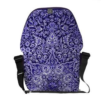 Ornate Vintage Tapestry Batik Purple Messenger Bags