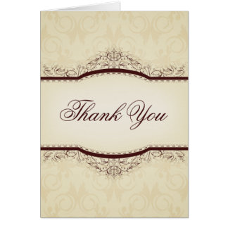 Ornate Vintage Thank You Cards