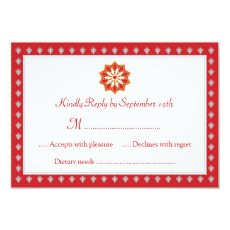 Ornate Wedding RSVP Card Invitation
