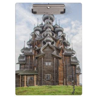 Ornate wooden church, Russia Clipboard