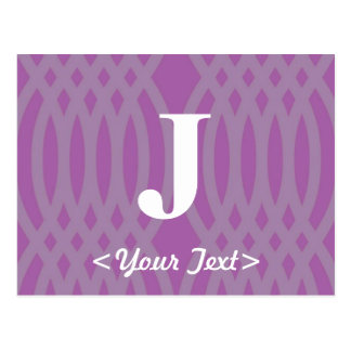 Ornate Woven Monogram - Letter J Post Card