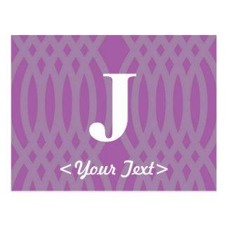 Ornate Woven Monogram - Letter J Postcard