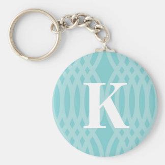 Ornate Woven Monogram - Letter K Basic Round Button Key Ring