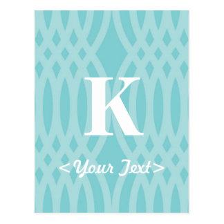 Ornate Woven Monogram - Letter K Postcard