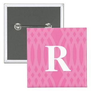 Ornate Woven Monogram - Letter R 15 Cm Square Badge