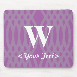 Ornate Woven Monogram - Letter W Mouse Pad