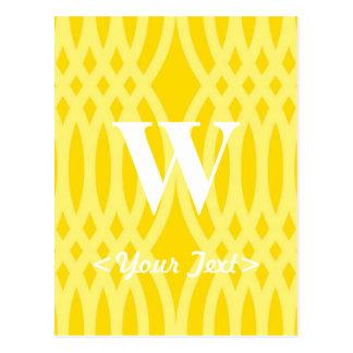 Ornate Woven Monogram - Letter W Postcard
