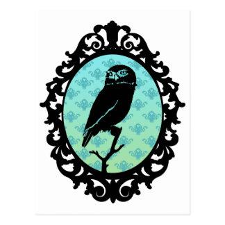 Ornated Framed Owl Postcard