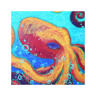 Ornery Octopus Wall Art Gallery Wrap Canvas