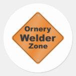 Ornery Welder Round Stickers