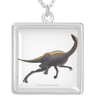 Ornithomimus Silver Plated Necklace