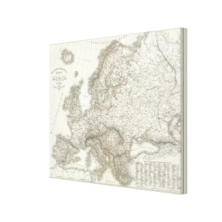 Orograph Europa - Physical Map of Europe Canvas Print