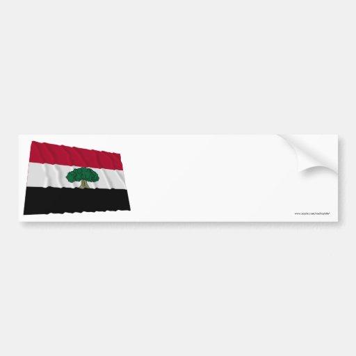 Oromia Waving Flag Bumper Stickers