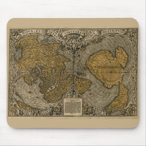 Oronce Fine 1531 Map Mousepad