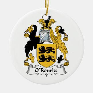 O'Rourke Family Crest Christmas Ornament