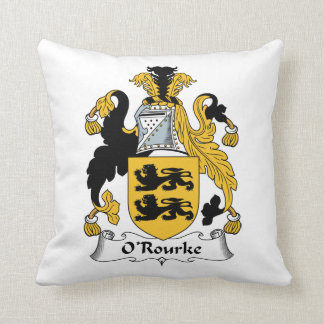 O'Rourke Family Crest Cushion