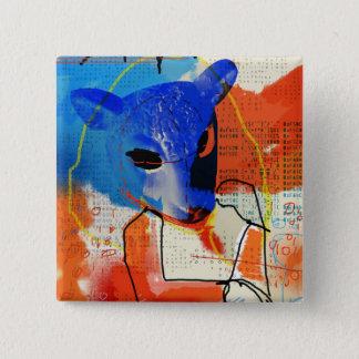 Orphan Black | MK - Sheep Mask Silhouette 15 Cm Square Badge