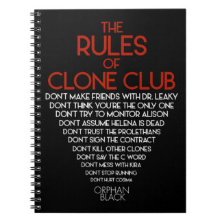 Orphan Black | The Rules of Clone Club Notebooks