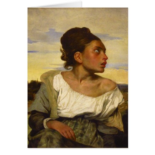 Orphan Girl at the Cemetery by Eugene Delacroix Greeting Card