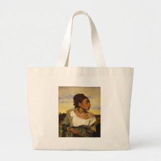 Orphan Girl at the Cemetery by Eugene Delacroix Jumbo Tote Bag